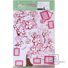 Наклейка CO 008 фоторамка Розовая сакура
