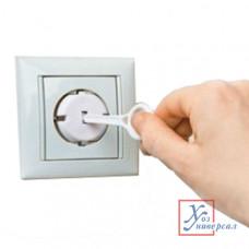 Заглушки для розетки 4шт + 2 ключа вп/э пакете 16-0004 /20