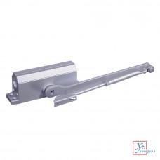 Доводчик дверной  Koral морозустойчивый 168 (60-80 кг) серебро  601-013