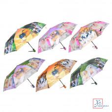Зонт женский автомат метал полиэстер 8 спиц 55 см 6 диз.302-243