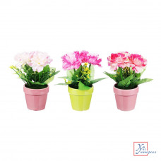 Декоративный цветок в горшке, 23,5х11х11 см, пластик, керамика, 3 цвета 501-459