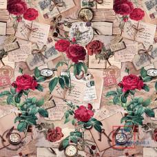 Клеенка Декорама ПВХ 122А 140 см*20 м  розы