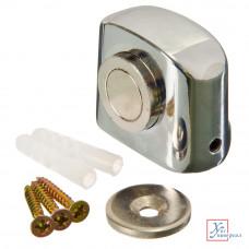 Стопор дверной 09 магнитный 31*37 мм хром цинк 602-048