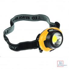 Фонарь налобный Чингизхан 5 Вт COB LED, 3xAAA, 6,5х4см 3реж. 221-003
