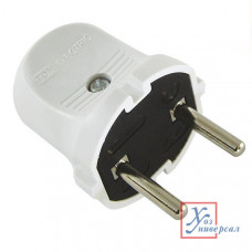 Вилка б/з 6A 250В белая TDM SQ1806-0001
