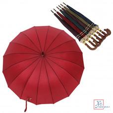 Зонт полуавтомат трость мет полиэстер д 113 см дл.спиц 60см  6 цв. 302-163