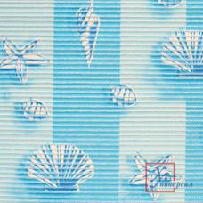 Коврик универс.ПВХ 0,65 х 15м 6684 ракушки на голубом
