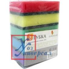 Губка д/посуды EH Крекер с абразивным слоем 11,8*8,5*3,5 см порол.делик.абр. 7558 /5/