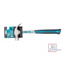 Молоток-гвоздодер GROSS 570гр, цельнокованый, двухкомп. ручка /10470