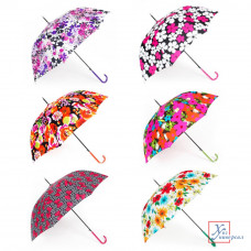 Зонт женский полуавтомат металл полиэстер 60 см 8 спиц 6 диз.302-206
