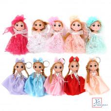 Брелок-куколка 15 см пластик полиэстер 2 диз.5-8 цв 267-738