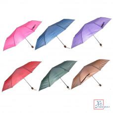 Зонт универсальный механика метал пластик полиэстер 55 см 8 спиц 6 цв.302-221