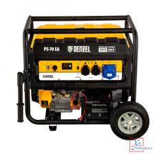Генератор бенз. DENZEL  PS 70 EA 7,0кВТ 220вт/50Гц,25л, коннектор автомат, электростартер /946894