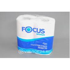 Бумага туалетная Focus 2 сл.4 рулона 500122