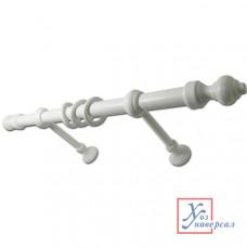 Карниз пластик-металл одинарный 1,5 м белый