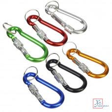 Брелок для ключей с карабином и фиксатором 7,5 см 6 цв. 519-333