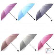 Зонт женский механика метал пластик полиэстер 58 см 8 спиц 6 цв.302-225