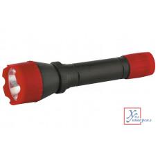 Фонарь Ultraflash 6102-ТН (красный 1 LED 1 реж 2*R06 пласт.бл.пак)