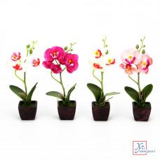 Декоративный цветок В виде Орхидеи, керамика, пластик, 21х8, 5х5,5см, 4 цвета, арт.12-07 501-407