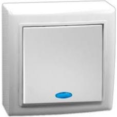 Выключатель Volsten Solar 1 ОП V01-31-V12-S бел..с инд./10/