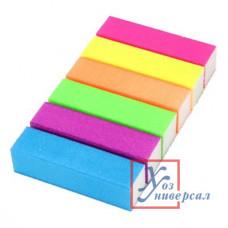 Бафик-мини для полировки ногтей 4-хсторонний, 9х2х2,5см, ЭВА 6 цветов, В204 305-236