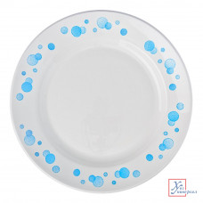 Фаянс 056 тарелка мелкая Синий горох 200мм 814-004