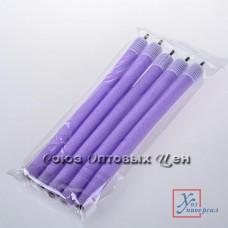 Бигуди для волос №2 24 см полимер  Н-1166 5 штук /12/480/