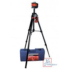 Уровень лазерный MATRIX 100 мм, штатив 1300 мм, ротац. пл.кейс /35031
