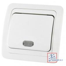Выключатель TDM Валдай 1 СП 10А подсветка, белый SQ1804-0004
