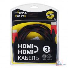 Кабель Forza HDMI-HDMI 1.4.10.2 Гбит/с 3 м медь 901-012