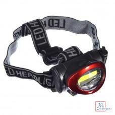 Фонарь налобный Чингизхан 5 Вт COB LED, 3xAAA, 6,8х4см 198-056