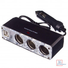 Разветвитель прикуривателя 2 гн.+2 USB 3.1 A 768-274