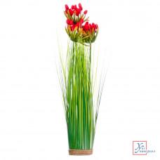 Декоративный цветок Зеленая коллекция, пластик, 44 см, 4-5 цветов, арт 1507-2 501-414
