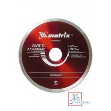Диск алмазный сплошной MATRIX Premium 200*22,2мм влажная резка /73189