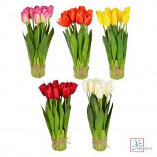 Декоративный цветок в виде тюльпанов 37*7см, пластик, 5 цв 501-457