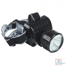 Фонарь налобный Чингизхан LED, аккум. вилка, 8*6*7,5см 5реж. 328-046