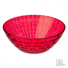Салатник стекл.Корал 800 мл красный 877-575
