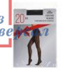 Колготки женские 20 дэн с рисунком сердечки цвет черный 048-017
