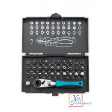 Биты GROSS магнит.адапт.,сталь S2, 33 шт.,пласт.кейс /11365