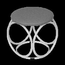 Банкетка круглая цвет белое серебро БН140 БС