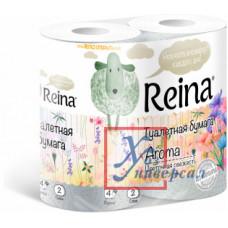 Бумага туалетная Reina 2 сл.4 рулона  Цветочная свежесть 503549