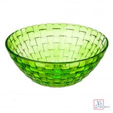 Салатник стекл.Флорин 800 мл зеленый 877-576