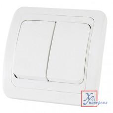 Выключатель TDM Валдай 2 СП 10А 220В белый SQ1804-0002/10/