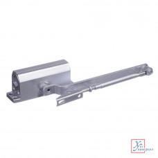 Доводчик дверной  Koral морозустойчивый 125 (0-40 кг) серебро  601-009