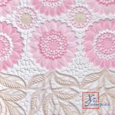 Клеенка Easy Lace 039A 1,32*22 м розовый подсолнух