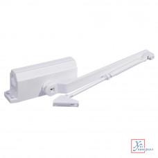 Доводчик дверной  Koral морозустойчивый 168 (60-80 кг) белый  601-012