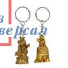 Брелок Сноу Бум Мышка в короне, полистоун 4,5см бронза 2диз. 359-707